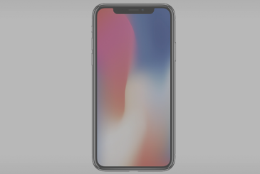 The iPhone X has been designed for use in two hands