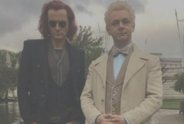 Good Omens: the many images from the set with David Tennant, Michael Sheen and Neil Gaiman