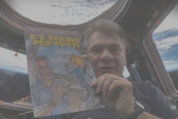 The Rat-Man in space, the comic Itself is the first in-orbit thanks to Nespoli