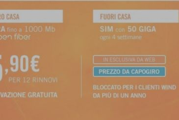 With the WindHome Fiber costs less than 16€!