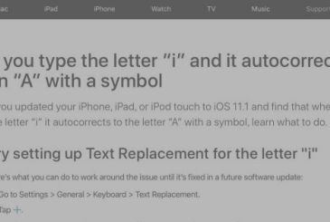 """IOS 11.1, and the bug of the letter """"I"""", Apple is working to fix"""