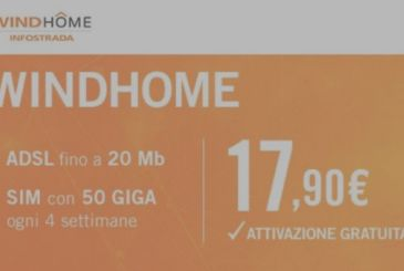 WindHome ADSL and Fibre on offer at 17.90€!