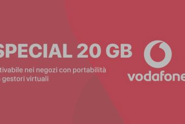 Vodafone Special 20 GB: available for activation in stores for only 10€