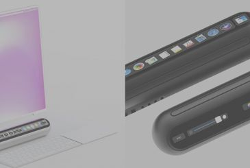 The new Mac Mini with Touch Bar created in a great cocept