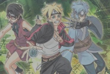 Boruto – Naruto the Next Generations: the color picture of chapter 18 of the manga and the cover of Jump