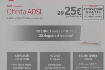 Vodafone ADSL and Fibre on offer until midnight