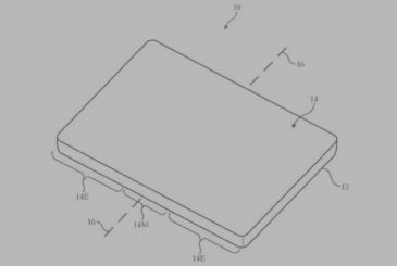 New patent to Apple for an iPhone with the display folding