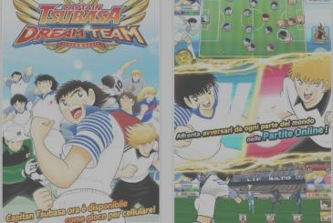 """Holly and Benji on the iPhone, which is available from the game """"Captain Tsubasa: Dream Team""""!"""