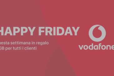 Vodafone Happy Friday: this week a gift of 4 GB for all