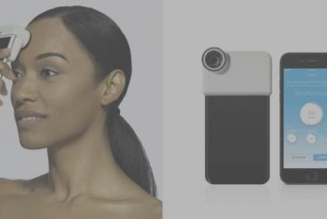 Johnson & Johnson has the scanner of the skin which interface with the iPhone – CES 2018