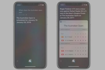 Apple updates Siri comes to the results of tennis and golf