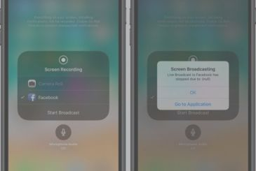 Facebook will integrate the screen recording of iOS 11