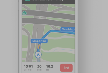 Apple Maps with markings of the lane in the new nations