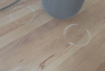 HomePod, the problem of the rings white on the wood can be easily fixed by Apple