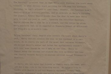 Here is the original plot of Harry Potter that J. K. Rowling sent it to the publishers