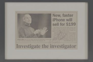 The first request for work signed by Steve Jobs sold for $ 175,000!