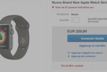 Apple Watch Series 3 (42mm) on offer at 329,99€