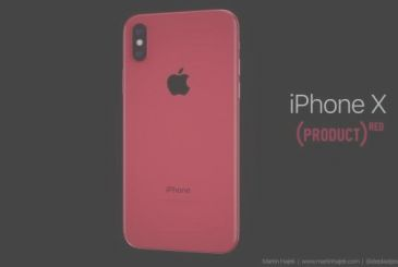 IPhone X (PRODUCT) RED shown in a concept video