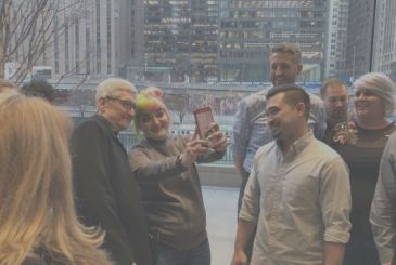 Tim Cook's visit to the new Apple Store in Chicago