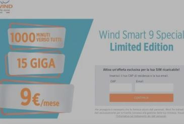 Wind Smart 9 Special Special: 1000 minutes and 15 Giga-9€ / month