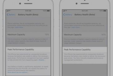 Battery deteriorated, here's the new warning on iOS 11.3