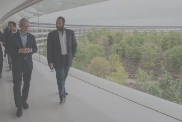 The crown prince of Saudi Arabia visiting the Apple Park