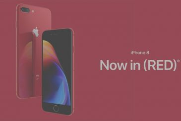 Apple launches the iPhone 8 red (Product)RED. Available from April 10, with the front black!