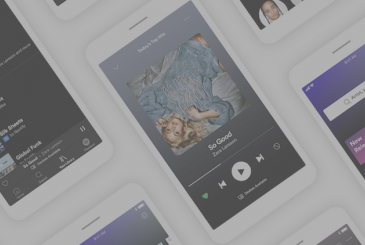 Spotify has an app redesigned for all users. The theme is dark and the possibility to choose the songs to listen to