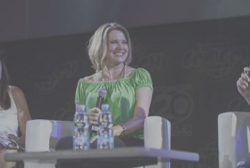The encounter with Lucy Lawless, the inimitable Warrior Princess guest to the Napoli Comicon!