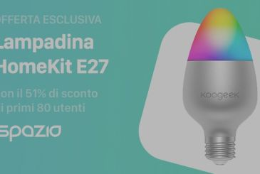 Exclusive offer: led Bulb Smart HomeKit, color with the 51% discount to the first 80 users iSpazio