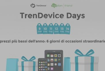TrenDevice Days: 6 days of great discounts. The opportunity to save money and do good for the environment. All together.