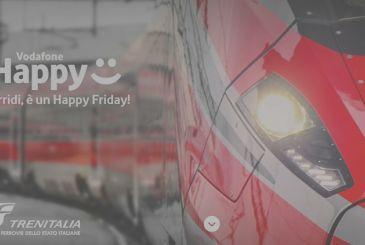 Vodafone Happy Friday offers a€ 10 discount with Trenitalia and can also be used by users with another operator!