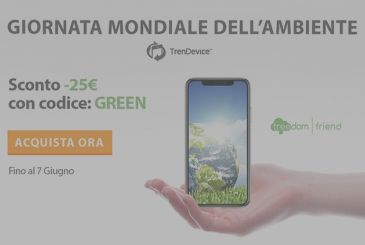 World environment day: with Trendevice savings 25 $ and help the planet by planting trees in Italy and in the rest of the world.