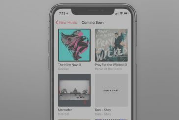 "Apple updates Apple's Music with the new section ""Coming Soon"""