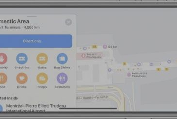On Apple Maps arriving maps of new airports