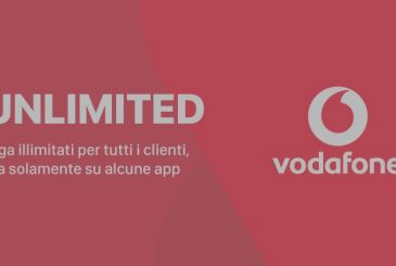Vodafone Unlimited: three new promotions for all with giga unlimited