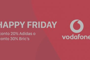 Vodafone Happy Friday: discounts up to 30% for the shop online Adidas and Bric's