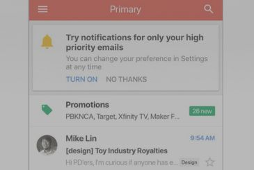 Gmail now uses artificial intelligence to send notifications only when we receive interesting emails