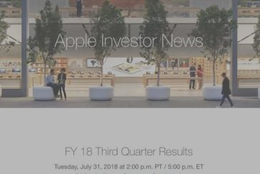 Apple: on 31 July, the conference on the financial results of Q3 2018