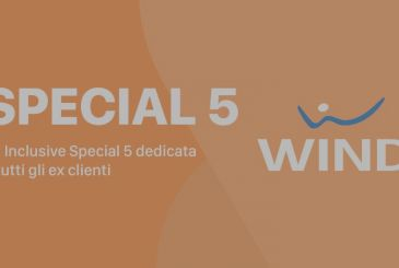 Wind All Inclusive Special 5: minutes, messages, and 30 GB 5€
