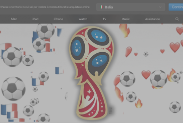 Apple is celebrating the world cup final on its official website