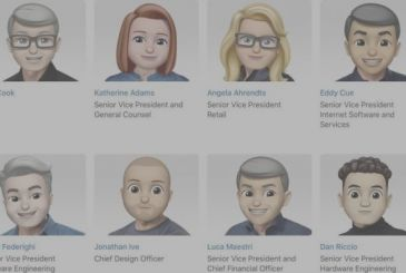 Tim Cook and other Apple executives are transformed into Memoji