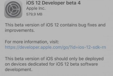 Apple releases iOS 12 beta 4 for developers