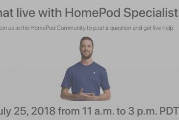 HomePod, on the 25th of July is on the live chat with the Apple experts