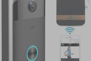 Wireless Video Doorbell, the doorbell is Wi-Fi compatible with iPhone