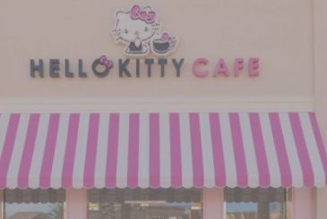 Hello Kitty opens to a Grand Cafe in the USA