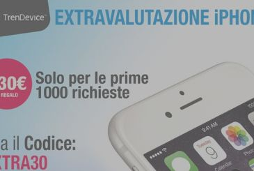 Is back the extravalutazione on TrenDevice: only for iPhone and only the first 1,000 requests.