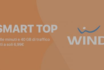 Wind Smart Top 40 with 1000 minutes and 40 GB only 6,99€