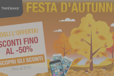Autumn festival on TrenDevice: discounts up to -50% on all smartphones and tablets reconditioned!