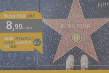 Kena Star Plus: unlimited minutes, 100 SMS and 50GB on 4G at 8,99€ / month
